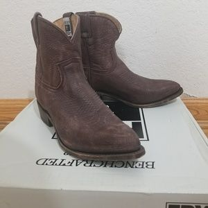 Frye Billy Short Ankle Boots Western Cowboy
